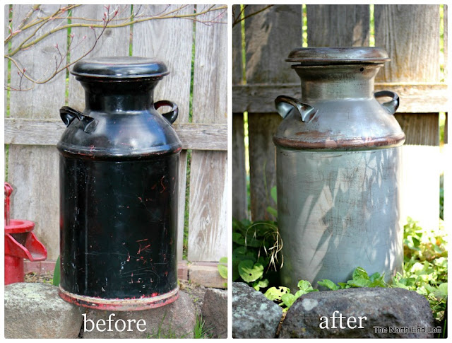 how to age a milk can