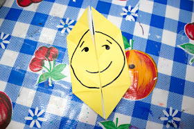 how to make super easy origami face changers- great craft for kids - one flip and you change faces from one emoji to the next