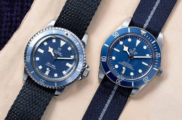 Tudor Black Bay Fifty-Eight Navy Blue ref. 79030B and its 1969 ancestor