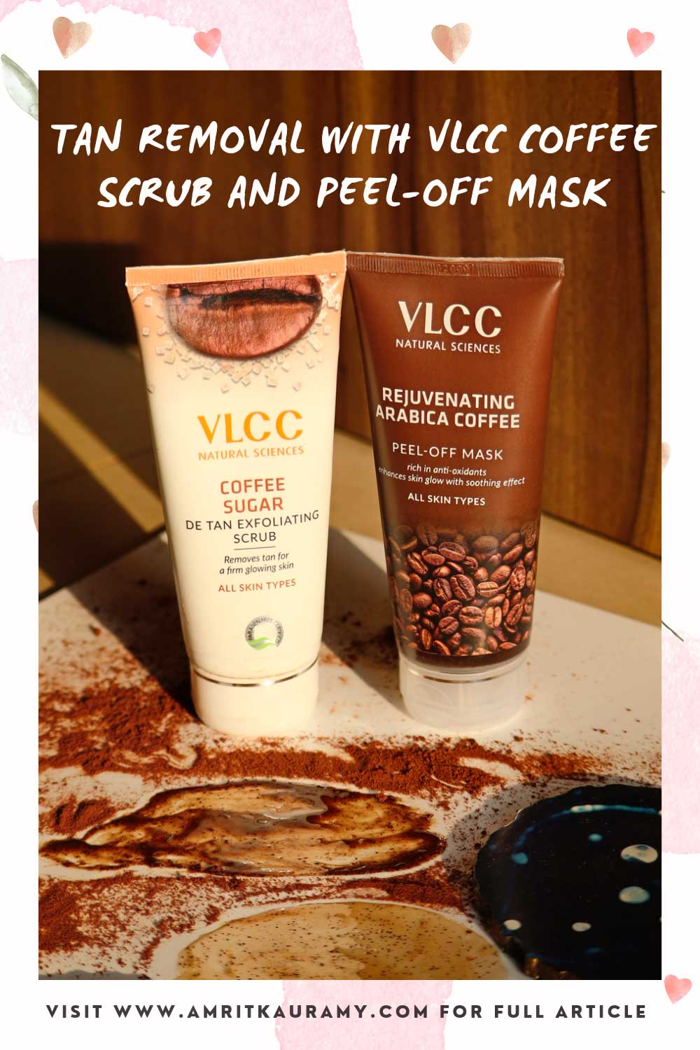 VLCC Coffee Sugar Scrub and Arabica Coffee Peel-off Mask Pinterest