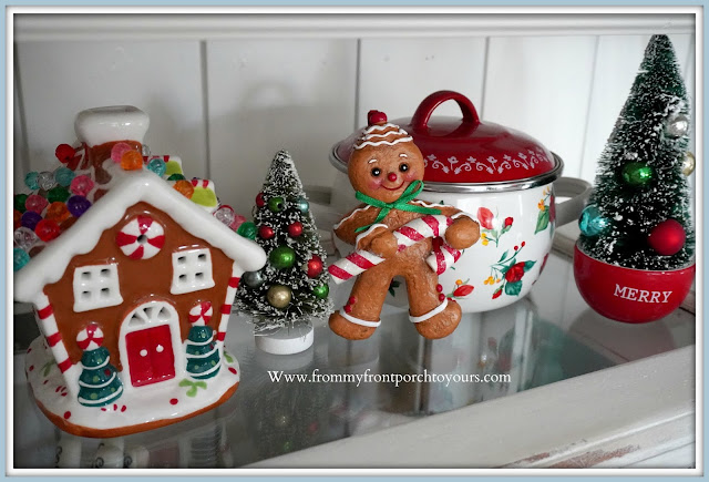 Cottage- Farmhouse- Christmas- Kitchen -Tour-Gingerbread man-Vignette-From My Front Porch To Yours