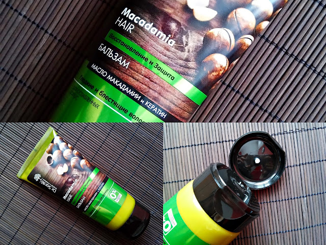 Dr. Santé - Odbudowujący balsam do włosów z olejem macadamia i keratyną