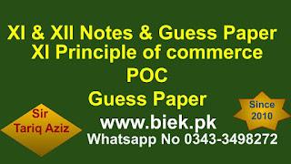 XI Principle of commerce www.biek.pk