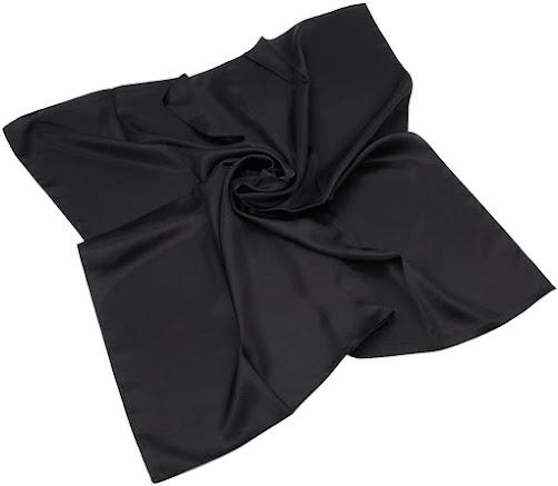 Good Quality Black Satin Scarves
