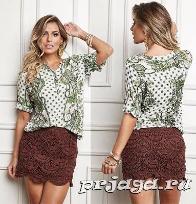 Patrón #762: Falda a Crochet