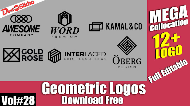 Download Free Awesome Logos Full Editable PSD File Vol#28
