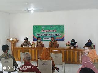 Monitoring dan Pengamanan  Musyawarah Masyarakat Desa (MMD) Bidang Kesehatan tahun 2020