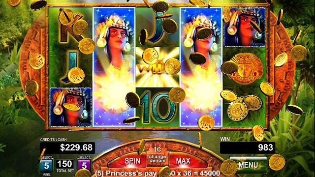 screen of online slot games