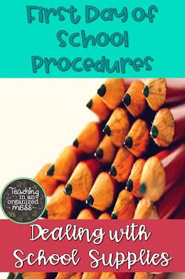 First Day of School Procedures Schools Supplies
