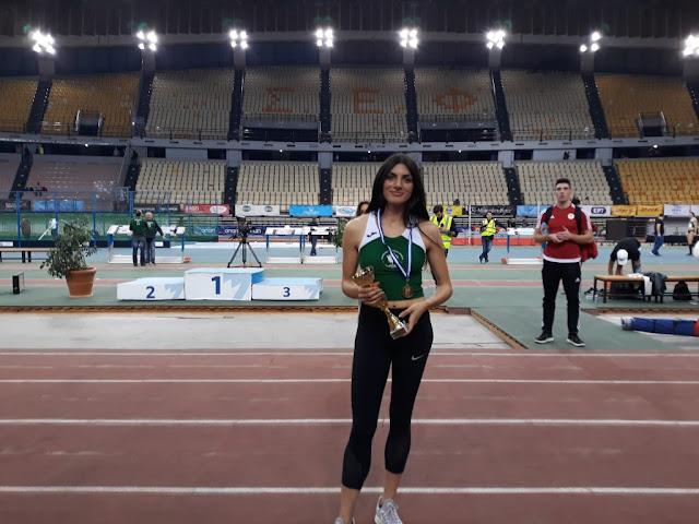 2η θέση στα 1.500μ για την Ναυπλιώτισσα Κωνσταντίνα Γιαννοπούλου στους Βαλκανικούς Αγώνες (βίντεο)