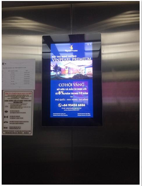 Màn hình quảng cáo trong thang máy hiện đại 1