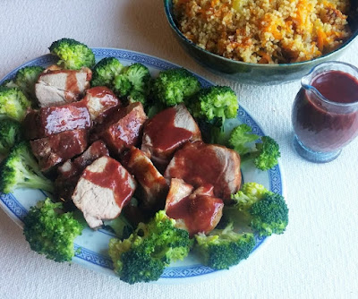 Pork Tenderloin with Balsamic Plum Sauce