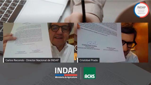 Convenio INDAP y ACHS