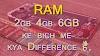 कंप्यूटर-मोबाइल रैम 2gb 4gb 6GB कौन सा ले ?