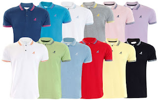 22c6a166 New Men's Kangol Joshua Designer 100% Cotton Pique Polo Summer T- Shirt Top