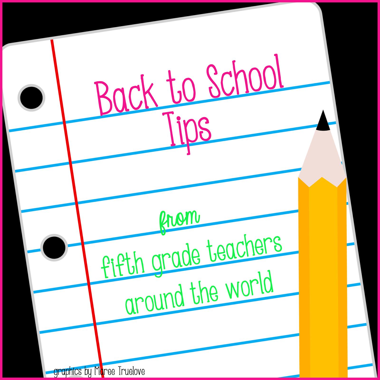 Teachingisa T Fifth Grade Fanatics Back To School Blog Hop