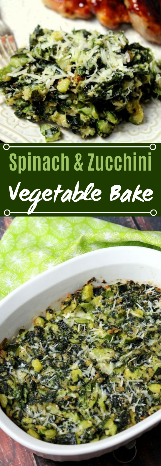 Spinach and Zucchini Vegetable Bake #vegetarian #veggies