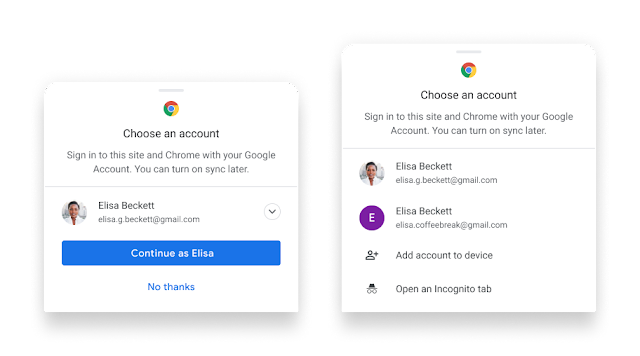 Seamless payments and password management in Chrome