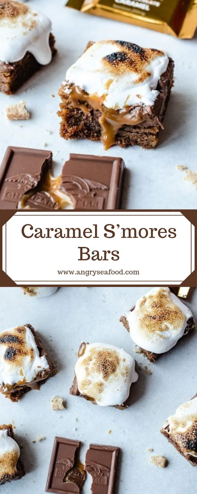 Caramel S'mores Bars