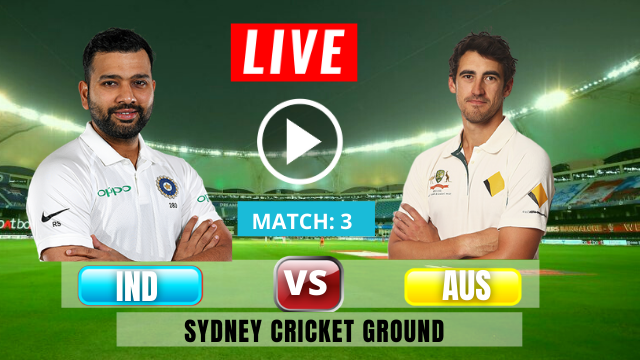 Australia vs India, 3rd Test , Australia scored 338 runs, Rohit and Shubhman opens the inning for India