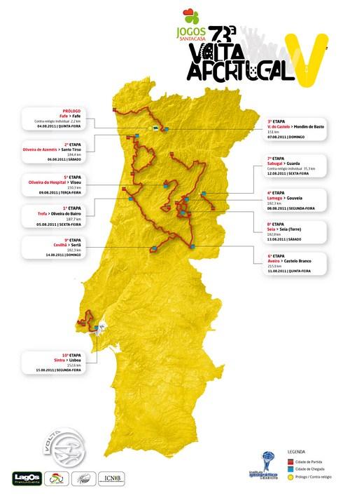 mapa de portugal 2011 VELOCIPEDI@: VOLTA A PORTUGAL? mapa de portugal 2011