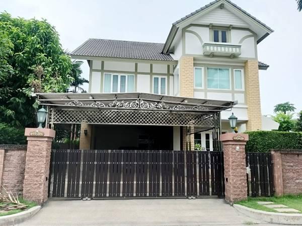 ขายบ้านเดี่ยว 2 ชั้น หมู่บ้านลัดดารมย์ อิลิแกนซ์ ถนนพระราม 5-2 (หลังมุม) โทร 094-029-5645