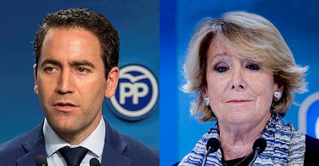 Teodoro García Egea y Esperanza Aguirre