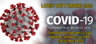 DoPT - Preventive measures to be taken to contain the spread of Novel Coronavirus (COVID-19)