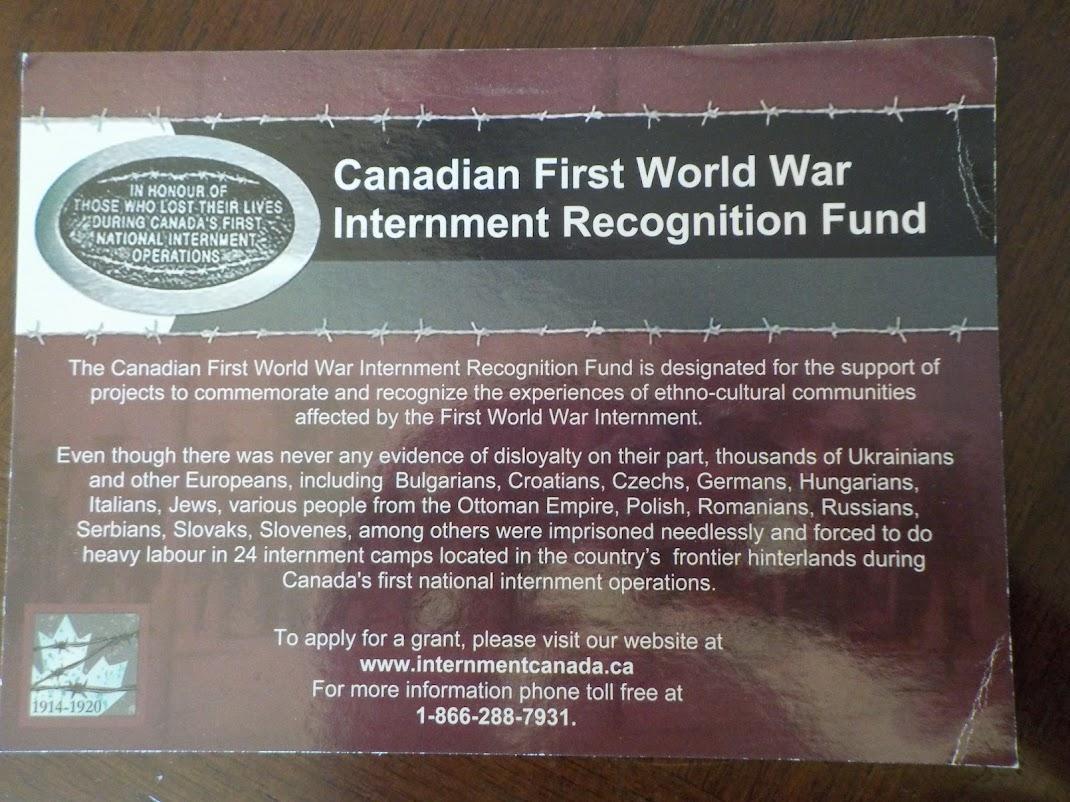 Click on pic - Internment Canada