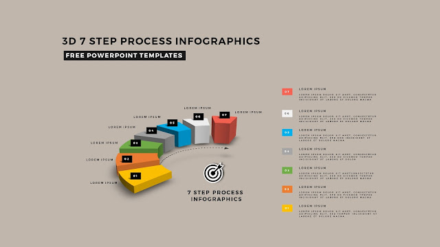 Multi Step 3D Circular Process Diagram Infographic Free PowerPoint Template Slide 11