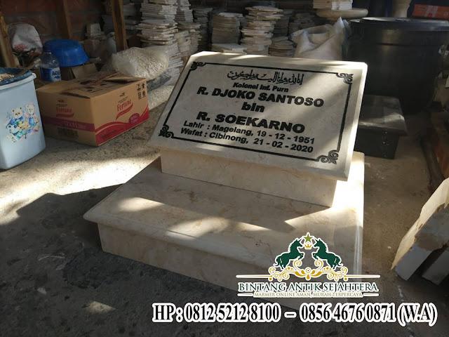 Contoh Batu Nisan Kuburan Marmer, Model Nisan Kotak Marmer