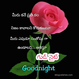 Good Night Quotes In Telugu