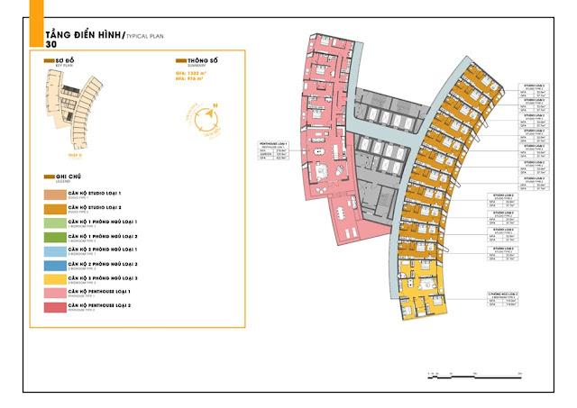Mặt bằng tầng điển hình dự án căn hộ Sunbay Park Hotel Ninh Thuận