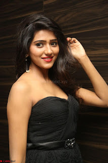 Shalu Chourasiya in spicy Sleeveless Strapless Black Top at O Pilla Nee Valla Movie Audio Launch Feb 2017 070.JPG