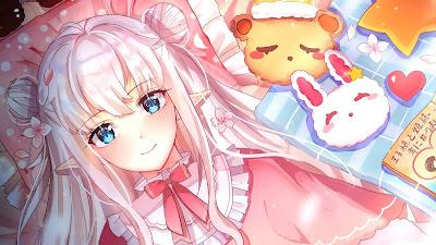Anime Girl Pink Aesthetic Wallpaper
