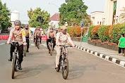 Ciptakan Situasi Kondusif Jelang Pilkada 2020, Waka Polres Pandeglang Pimpin Patroli Bersepeda