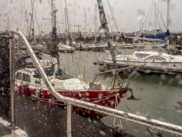 Photo of wet Wednesday at Maryport Marina