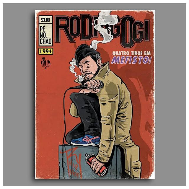 Rap em quadrinho - Rodrigo Ogi é retratado como John Constantine, o anti-herói da DC Comics.