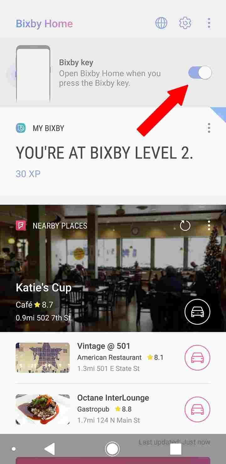 How to disable Bixby button step 2