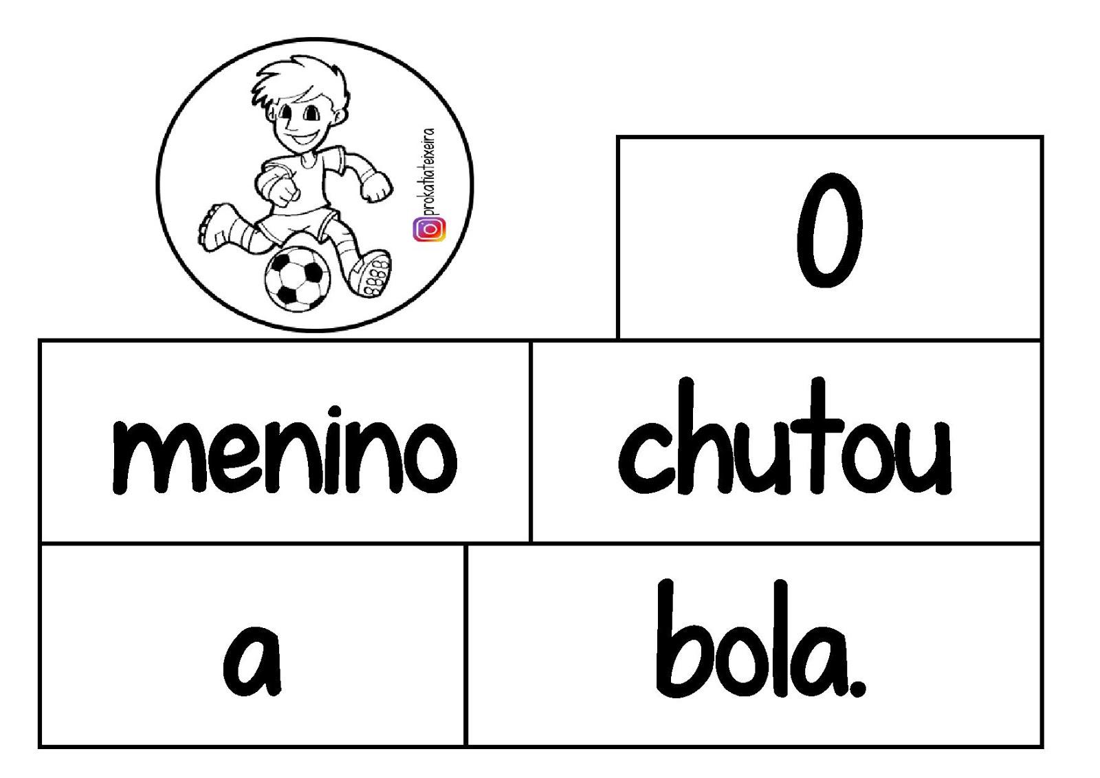 Jogo De Alfabetizacao Para Imprimir Ordenando Frases Blog Da