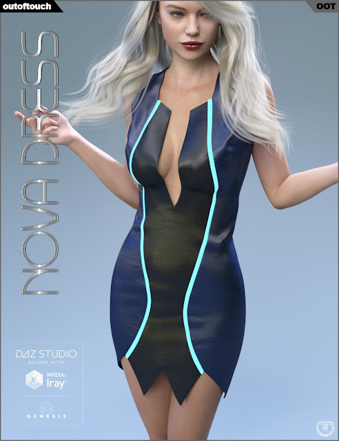 Nova Dress for Genesis 3 Female