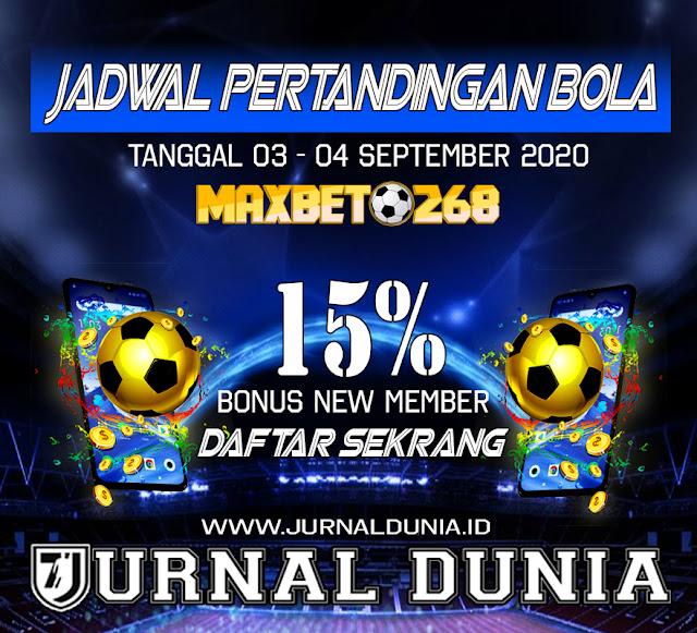 Jadwal Pertandingan Sepakbola Hari Ini, Kamis Tgl 03 - 04 September 2020