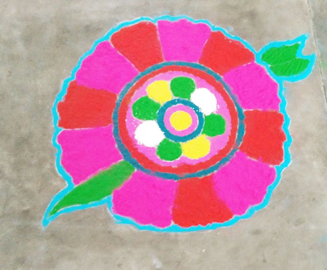 Rangoli by kids for Competition