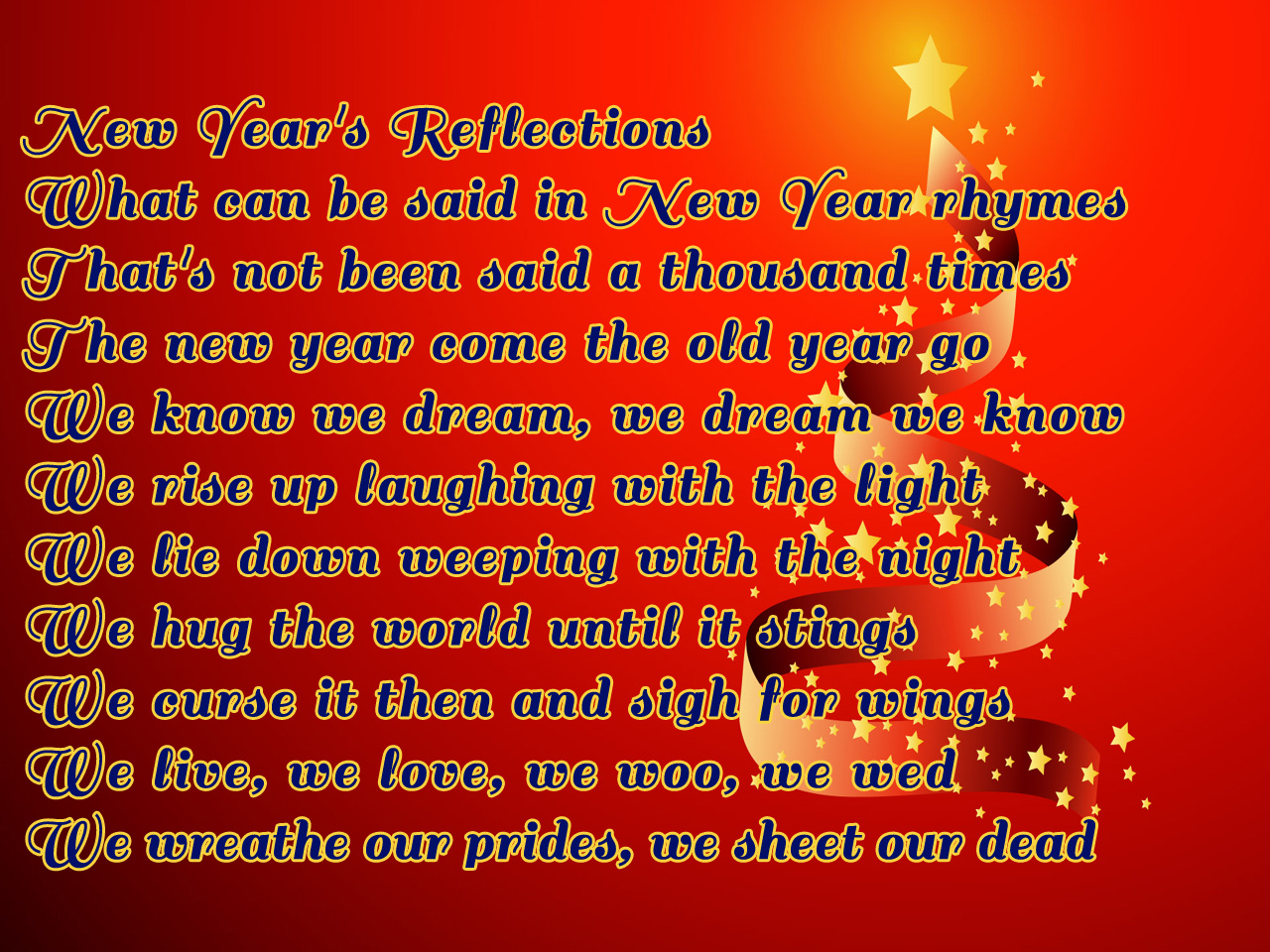 New Year S Poems And Wishes With Best Fonts