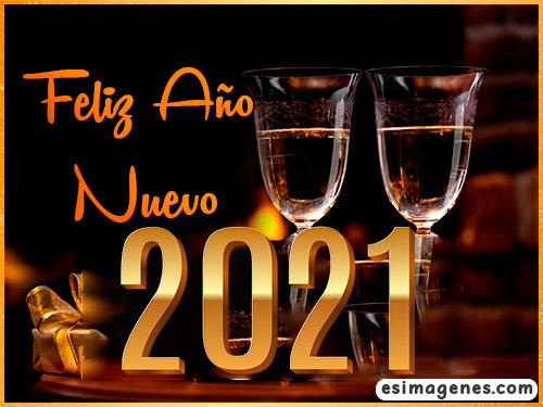 tarjeta feliz año nuevo 2021