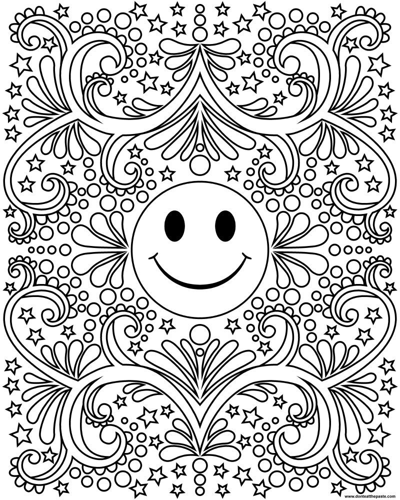 - Don't Eat The Paste: Happy Face Coloring Page