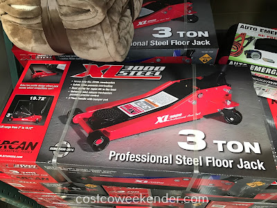 Easily lift your car with the Arcan XL3000 3 Ton Professional Steel Floor Jack