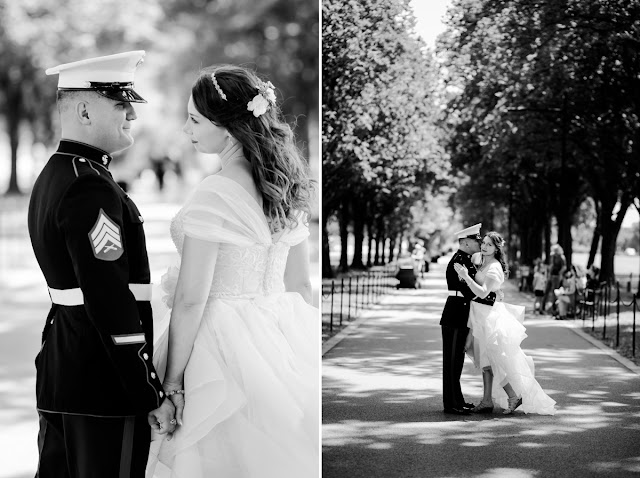 washington, DC Elopement at the DC War Memorial photographed by Heather Ryan Photography