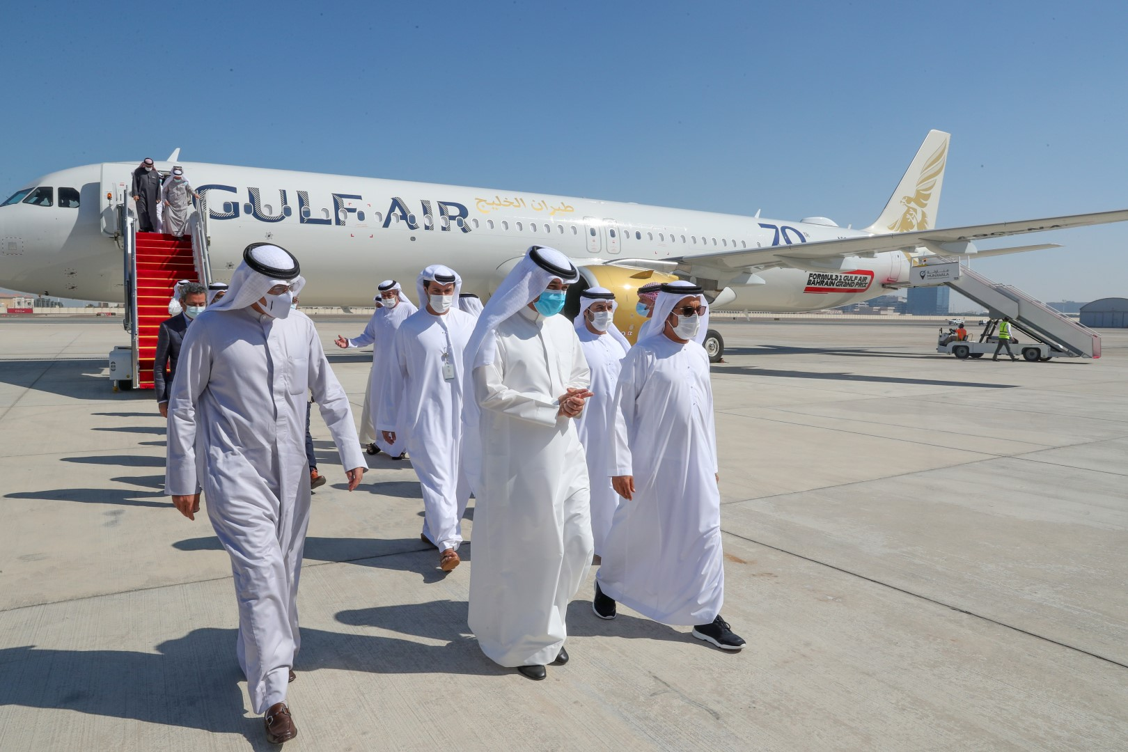 First flight from Bahrain arrives in Abu Dhabi
