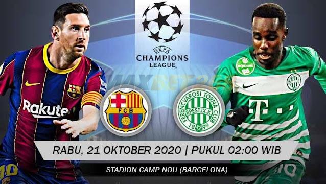 Prediksi Barcelona Vs Ferencvarosi, Rabu 21 Oktober 2020 Pukul 02.00 WIB